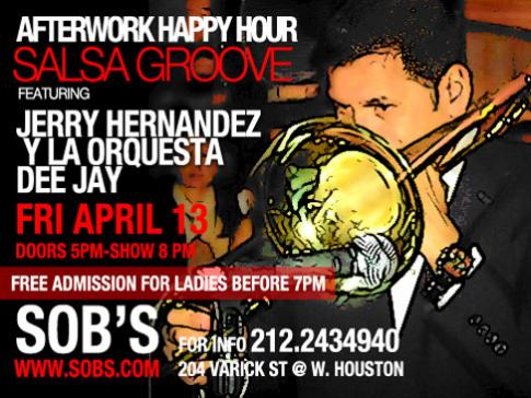 Salsa Groove Featuring Jerry Hernandez Y La Orquesta Dee Jay Live At SOB's NYC